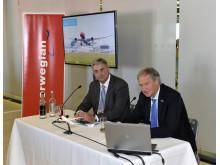 Bjørn Kjos together with the CEO of Gatwick Stewart Wingate