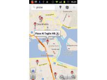 Google Maps Navigation - sök