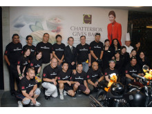 The Mandarin Orchard Singapore team together with Harley-Davidson of Singapore and The Helping Hand