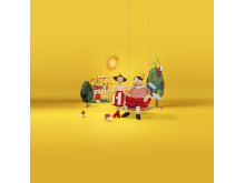 NOJSIG och GULLGOSE - två av mjukdjuren i årets mjukdjurskampanj på IKEA