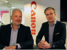 Henrik Klemetsen, Country Manager, Solution Business og Niklas Abrahamson, ansvarlig salgskonsulent, Solution Business i Canon Norge.