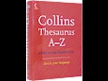 Collins Thesaurus A-Z, engelsk