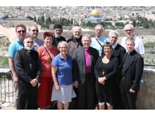 Deltagare kyrkoledarresa Israel och Palestina 2014