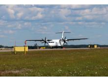 Flyben kone saapumassa Helsinki-Vantaalle
