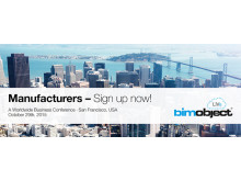 Sign up now for BIMobject® LIVe – San Francisco