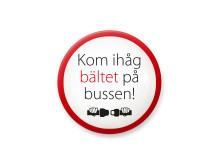 Kom ihåg bältet på bussen!