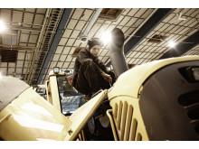 Swecon begagnade reservdelar - demontering motor hjullastare