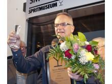 Ulf Söderqvist från Malmö, årets svenska mästare i nyskrivna snapsvisor