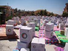 Nödhjälp till de flyende i Mosul