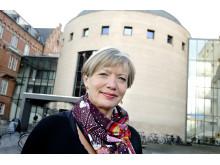 Stadsbibliotekarie Elsebeth Tank i paneldebatt på Stadsbiblioteket i Malmö