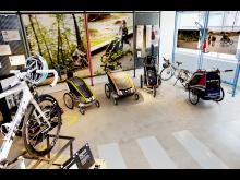 Chariots babyjoggers är väl representerade i Thule Concept Store Malmö