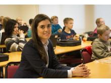 Linda Törner från barn- och ungdomsförvaltningen i Halmstad.