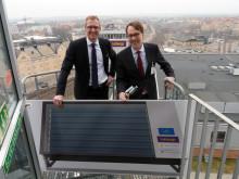 Unik testanläggning där solen i Karlstad gör jobbet