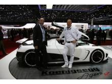 Michael Forsmark and Christian von Koenigsegg
