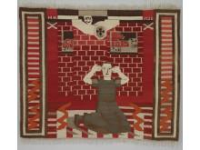 Gru/Fear,1936  tekstil, av Hannah Ryggen