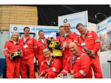 The team (and equipment) at the Cavotec stand - 290/7 in Hall B - at ONS2012