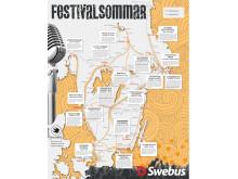 Swebus festivalkarta 2013 - bussen tar dig hela vägen fram till sommarens festivaler