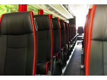 Interiör Swebus nya bussar från Scania