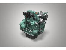 Volvo tandemvält DD25B - motor