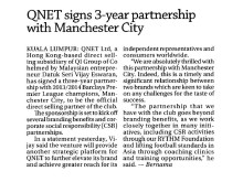 QNET Signs 3-Year Partnership with Manchester City