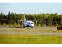 Flyben kone Helsinki-Vantaan lentoasemalla