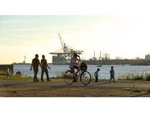 Göteborgs Hamn, vy från staden