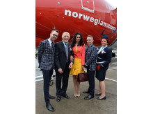 Sir Bruce Forsyth and Lady Wilnelia Forsyth launche the UK's only direct flights to Puerto Rico
