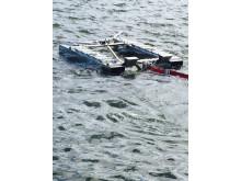 Automatisk oljelänsa i Göteborgs Hamn, närbild
