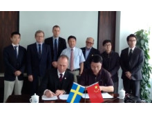Press photo: Plantagon International and Tongji University, Shanghai, signs Memorandum of Understanding