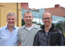 Lennart Mårtensson, Ola Svahn och Erland Björklund. För fri användning foto: Precious People/Högskolan Kristianstad