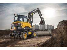 Volvo EW60E grävmaskin - arbetsbild