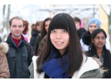 Tracy Luo, utbytesstudent från Kina