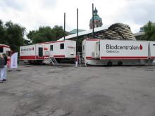 Blodgivartrailer i Stockholm