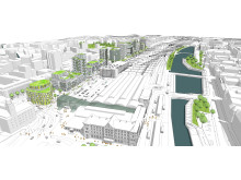 Vision Södra Nyhamnen Illustration Kanozi Arkitekter
