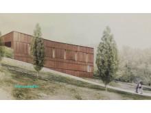 Erseus arkitekters förslag på nytt krematorium