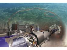 Large Hadron Collider vid Cern-laboratoriet.