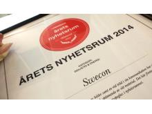 Swecon - Årets Nyhetsrum 2014