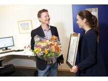 Rektor Pär Jonsson tilldelas Guldfimpen