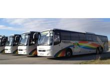 Flygbussar uppställda