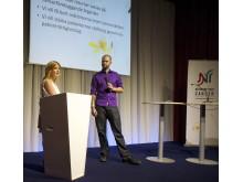 Nätverket mot cancers seminarium i Almedalen 3 juli 2012: Malou von Sivers i samtal med Alexander Johansson