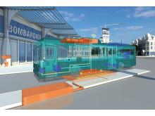 Bombardiers system för induktiv laddning av bussar på elväg