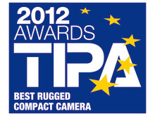 Pentax TIPA award 2012 Best rugged compact camera