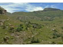 Lesotho är bergigt, därför är det svårt för befolkningen att leva på jordbruk.