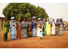 Kvinnogrupp i Mali