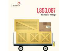 #Changi2015 - Total Cargo Tonnage