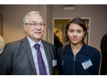 ENISA:s generaldirektör Udo Helmbrecht och Amelia Andersdotter, EU-ledamot Piratpartiet