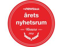 Logo Vinnare Årets Nyhetsrum 2014