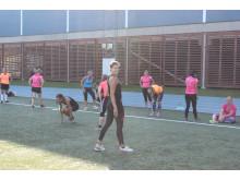 Löparhelg för tjejer träningspass