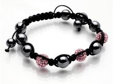 Dråpe discoballs armbånd rosa