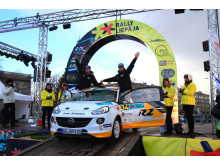 Emil Bergkvist vann Rally Liepaja